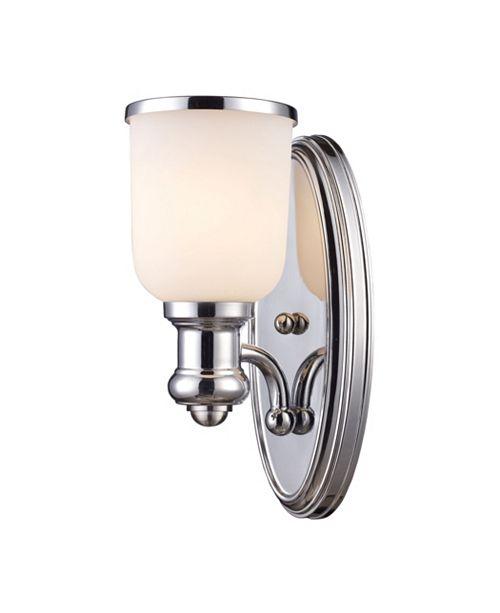 ELK Lighting Brooksdale 1-Light Sconce in Polished Chrome