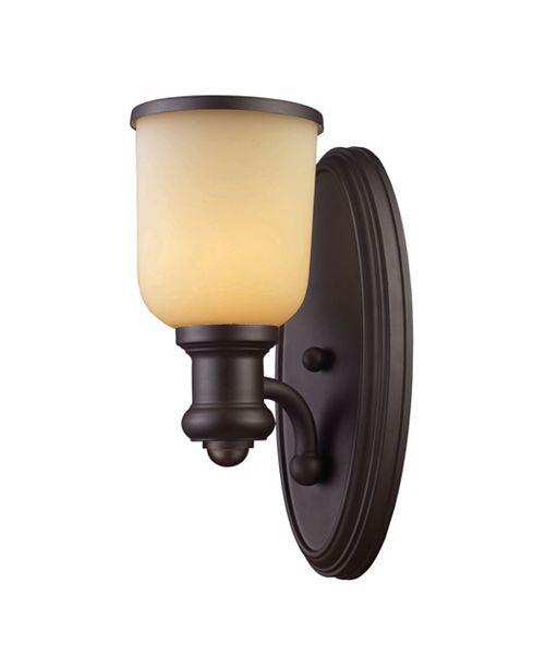 ELK Lighting Brooksdale 1-Light Sconce in Oiled Bronze