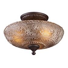Norwich 3-Light Semi-Flush in Oiled Bronze