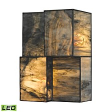 Cubist Collection 2 light sconce in Brushed Nickel - LED Offering Up To 600 Lumens (50 Watt Equivalent)