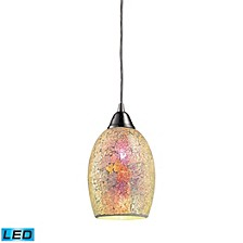 Avalon 1-Light Pendant in Satin Nickel - LED Offering Up To 800 Lumens (60 Watt Equivalent) with Ful