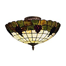 Grapevine 3-light Semi-flush In Vintage Antique