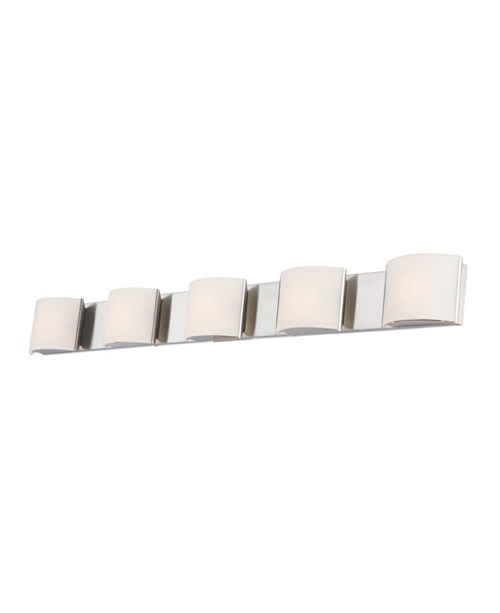 ELK Lighting Pandora 5-Light Bath and Vanity with White Opal Glass and Chrome Finish