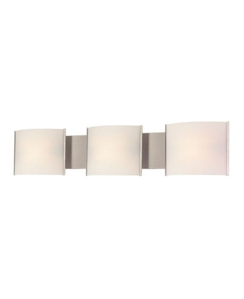 ELK Lighting Pannelli Vanity - 3 Light with Lamps. White Opal Glass / SS Finish