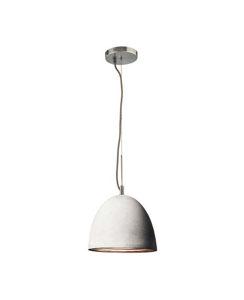 ELK Lighting Castle Small Pendant Concrete with Aluminum. Interior Grey Cord
