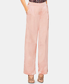 Vince Camuto Satin Pleated-Waist Pants
