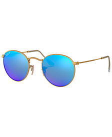 Ray-Ban Polarized Round Metal Sunglasses, RB3447