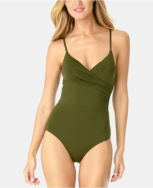 fde80dc4a Anne Cole Live In Color Surplice One-Piece Swimsuit   Reviews ...