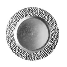 Jay Imports Hammered  Set/4 Silver Charger Plate
