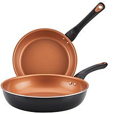 Farberware Glide Copper Ceramic Nonstick Skillet Twin Pack