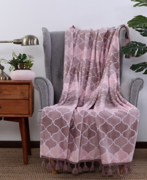 Berkshire Blanket & Home Co. Plush Ombre Throw with Tassels