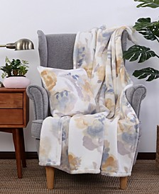 Blanket & Home Co.® PrimaLush™ Floral Print Throw and Pillow Set