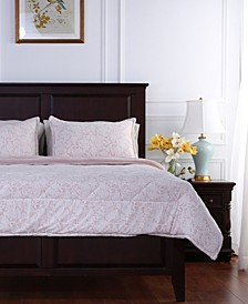 Blanket® Floral Lace Plush Twin Comforter Set