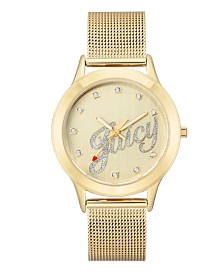 Woman's Juicy Couture, 1032CHGB Mesh Bracelet Watch