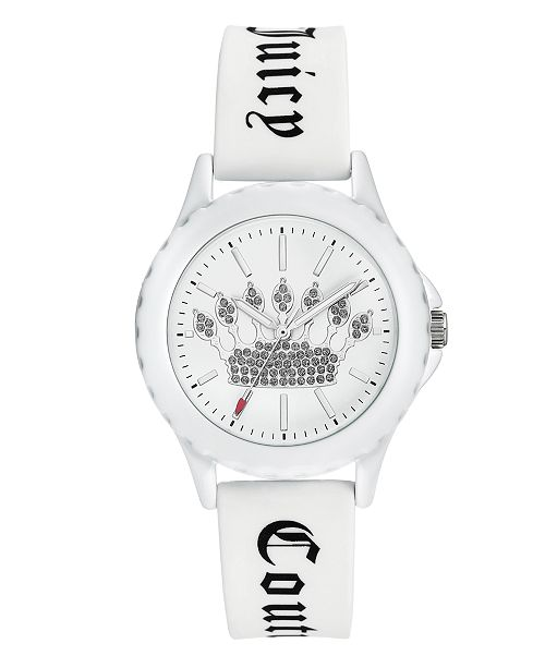 Juicy Couture Woman's 1001WTWT Silicon Strap Watch