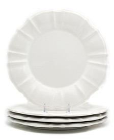 Chloe 4 Piece White Dinner Plate Set