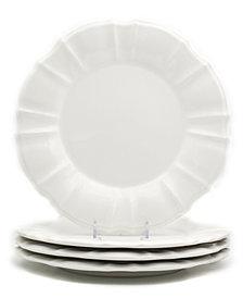 EuroCeramica Chloe 4 Piece White Dinner Plate Set