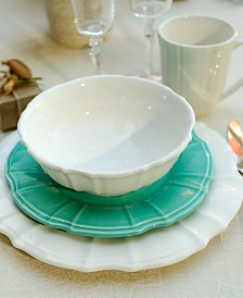 EuroCeramica Chloe White Dinnerware Collection