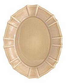 EuroCeramica Chloe Taupe Oval Platter