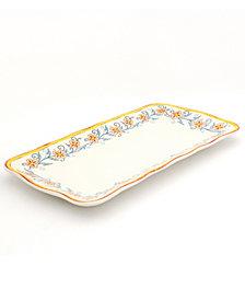 EuroCeramica Duomo Rectangular Appetizer Platter