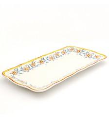 Euro Ceramica Duomo Rectangular Appetizer Platter