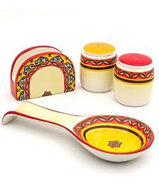 Euro Ceramica Galicia 4 Piece Accessory Set
