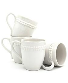 Sarar 4 Piece White Mug Set