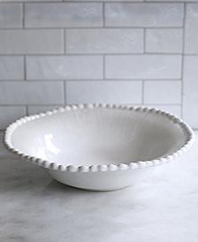 EuroCeramica Sarar White Serving Bowl