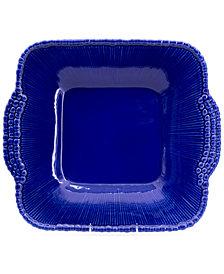 EuroCeramica Sarar Cobalt Square Platter with Handles