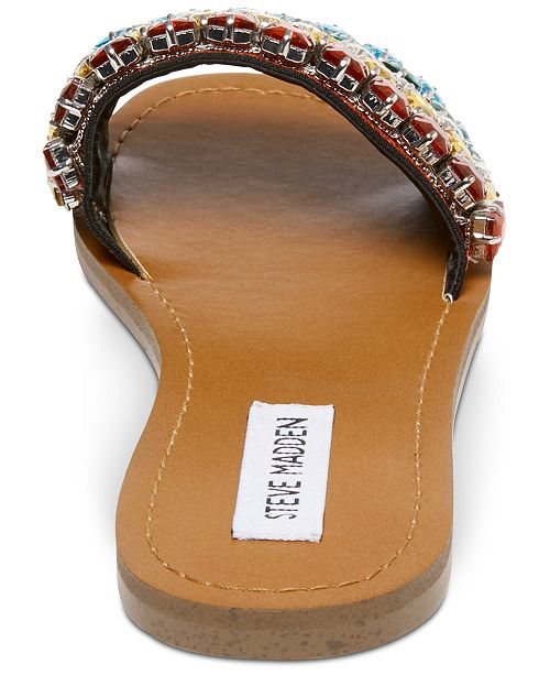 a3bf87c7ed8 Steve Madden Serenade Rainbow Jeweled Slides   Reviews - Sandals ...
