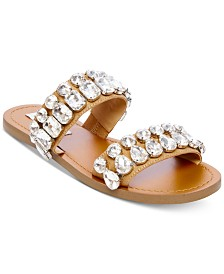Steve Madden Women's Reason Jeweled Sandals