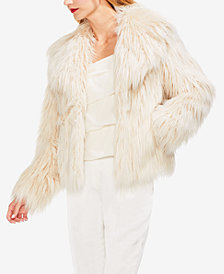 Vince Camuto Long Faux-Fur Jacket