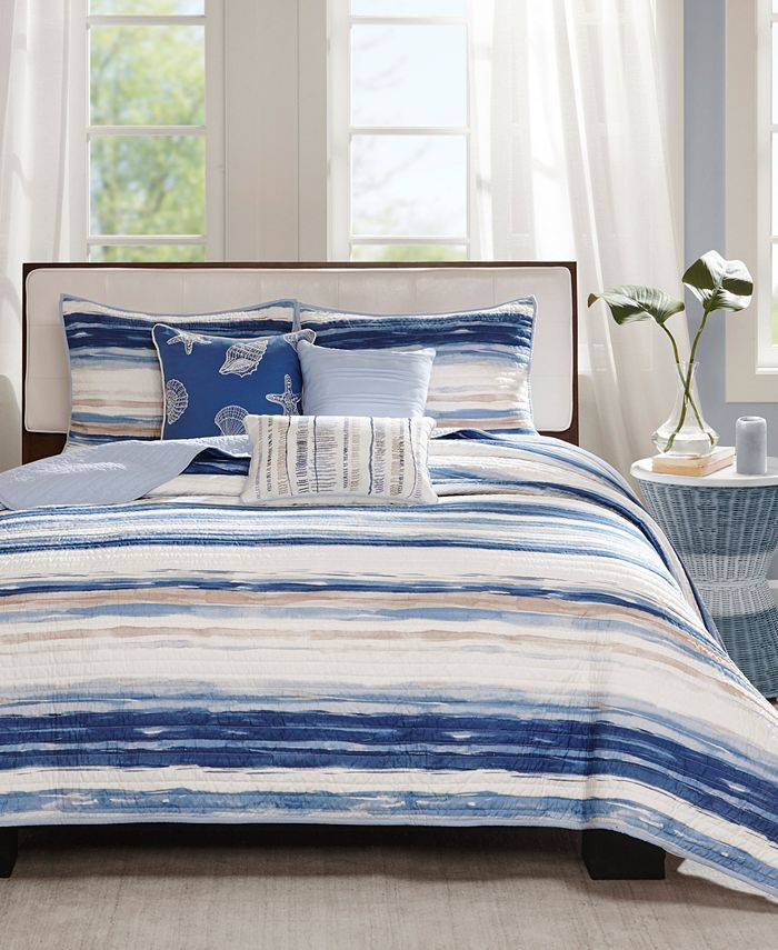 Madison Park - Marina 6-Pc King/Cal King Quilted Coverlet Set