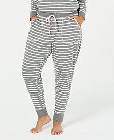 Jenni by Jennifer Moore Plus Size Knit Jogger Pajama Pants, Created for Macy's