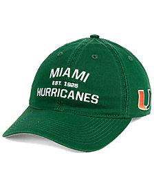adidas Miami Hurricanes Stadium Performance Wordmark Adjustable Strapback Cap
