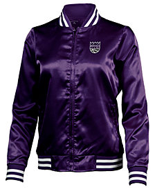 Antigua Women's Sacramento Kings Strut Satin Bomber Jacket