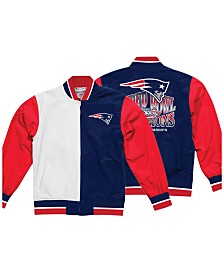 Mitchell & Ness Men's New England Patriots Team History Warm Up Jacket 2