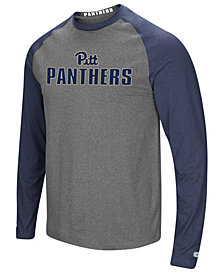 Colosseum Men's Pittsburgh Panthers Social Skills Long Sleeve Raglan Top