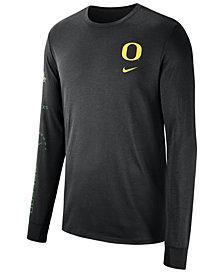 Nike Men's Oregon Ducks Long Sleeve Basketball T-Shirt