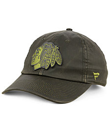 Authentic NHL Headwear Chicago Blackhawks Fundamental Waxed Adjustable Cap
