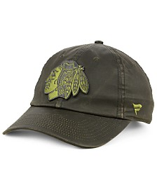 Authentic NHL Headwear Chicago Blackhawks Fundamental Waxed Adjustable Cap