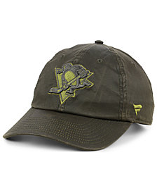 Authentic NHL Headwear Pittsburgh Penguins Fundamental Waxed Adjustable Cap