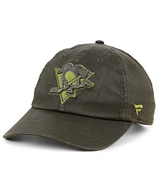 Authentic NHL Headwear Pittsburgh Penguins Fundamental Waxed Adjustable Cap