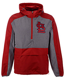 G-III Sports Men's St. Louis Cardinals Leadoff Hooded Half-Zip Pullover Hoodie