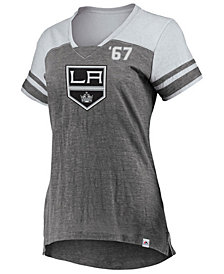 Majestic Women's Los Angeles Kings Hyper V Neck T-Shirt