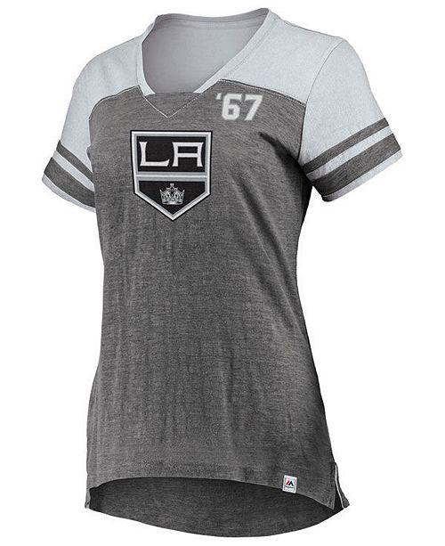 Majestic Women's Los Angeles Kings Hyper V Neck T-Shirt