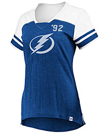 Majestic Women's Tampa Bay Lightning Hyper V Neck T-Shirt