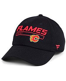 Authentic NHL Headwear Calgary Flames Rinkside Fundamental Adjustable Cap