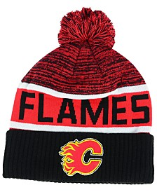 Authentic NHL Headwear Calgary Flames Goalie Knit Hat