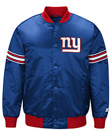 G-III Sports Men's New York Giants Draft Pick Starter Satin Jacket